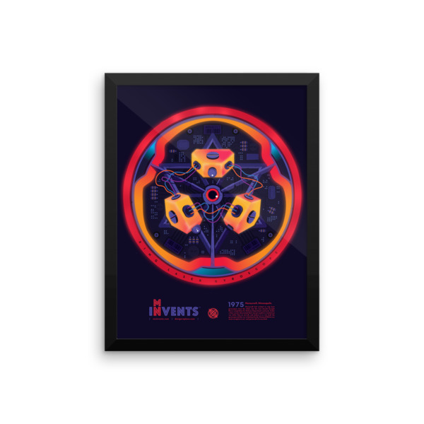 Ring Laser Gyroscope Poster Framed