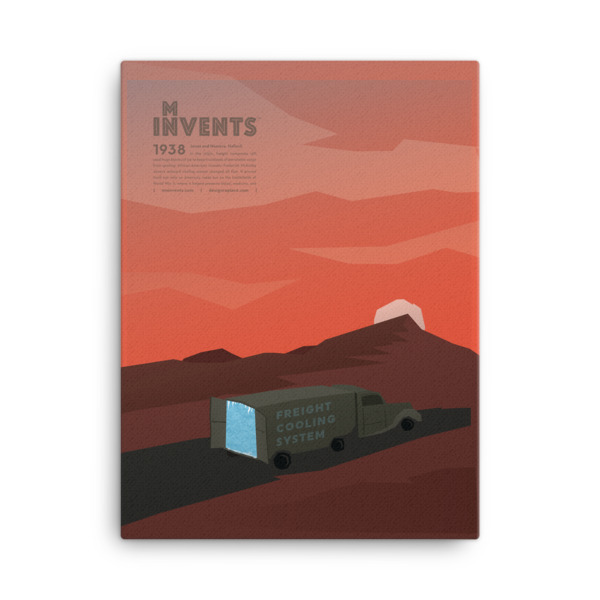 Freight Cooling System Poster Canvas
