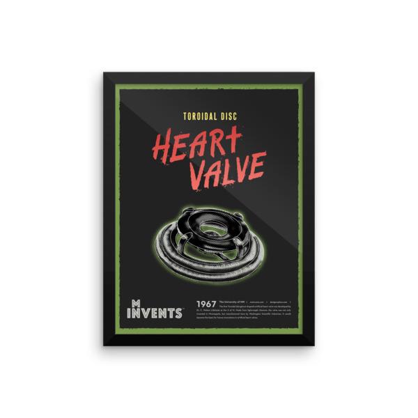 Toroidal Disc Heart Valve Poster Framed