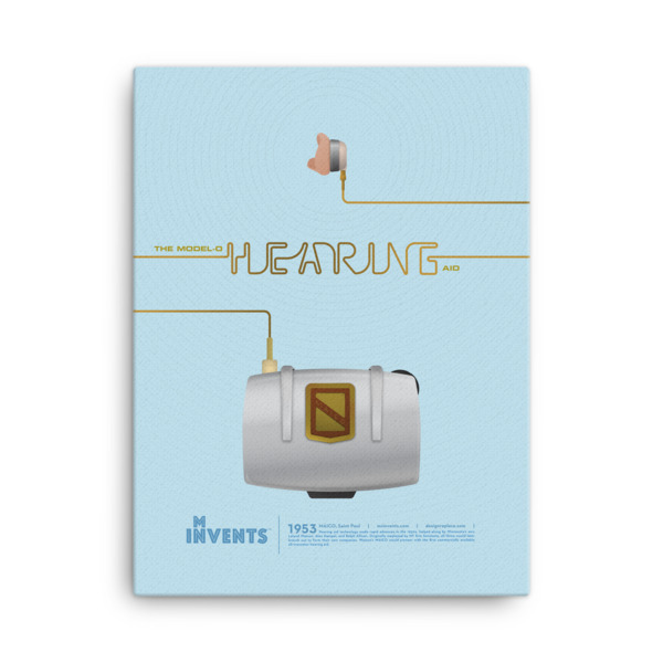 Hearing Aid Poster Canvas