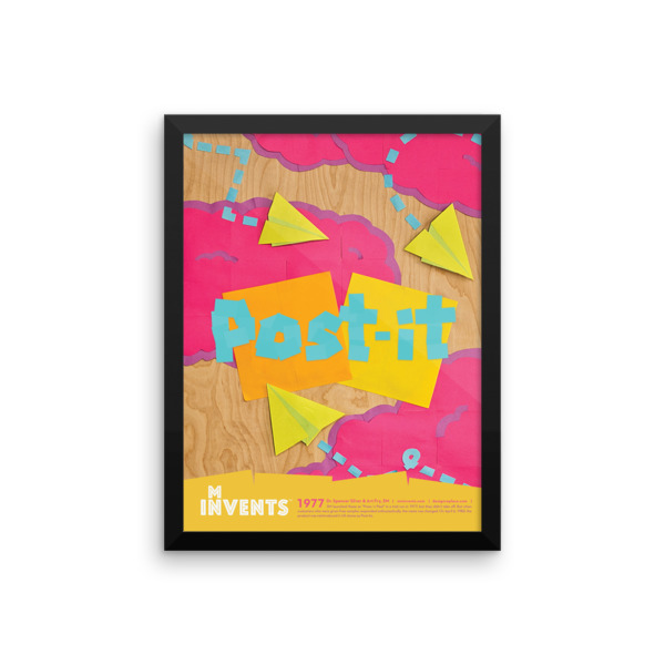 Post-It Note Poster Framed