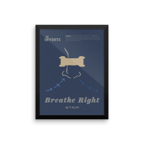 Breathe Right Strip Poster Framed