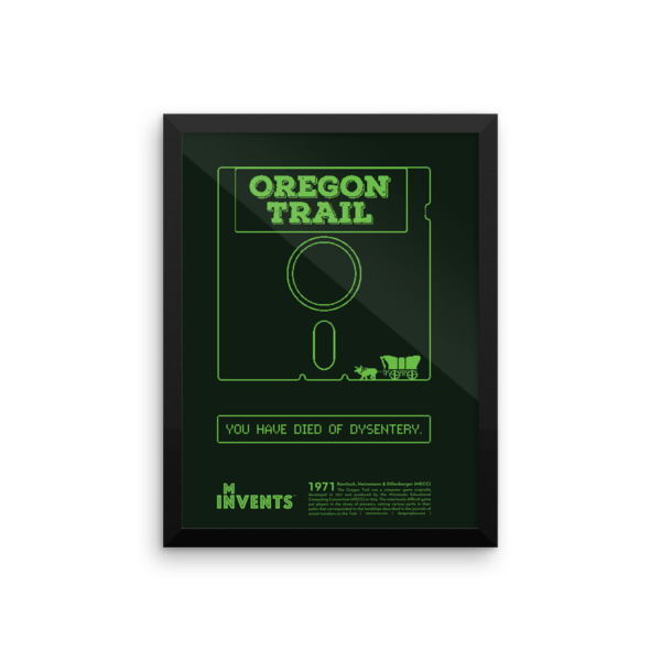 Oregon Trail Poster Framed