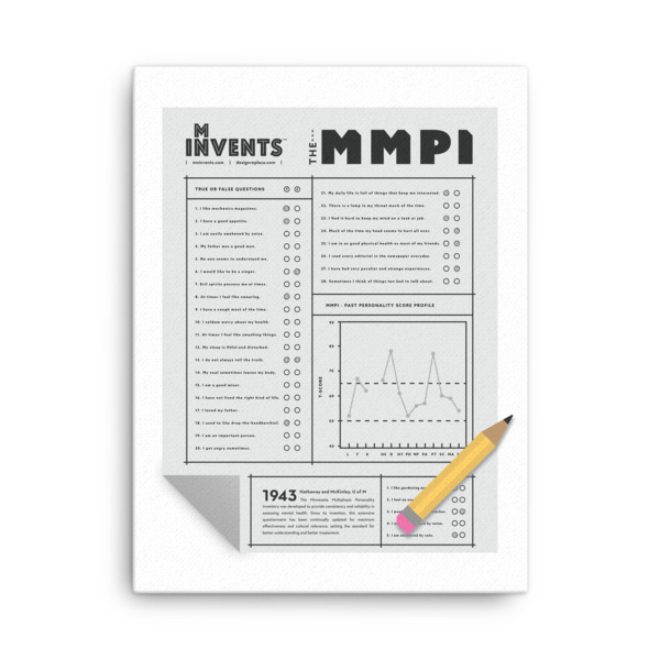 MMPI Test Poster Canvas
