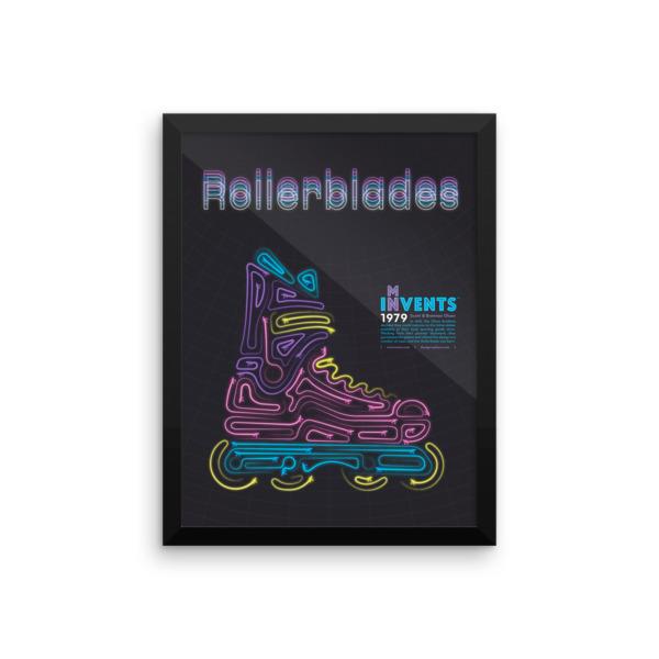 Rollerblades Poster Framed