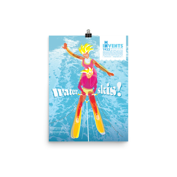 Water Skis Poster