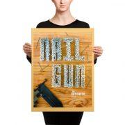Nail Gun Poster Canvas