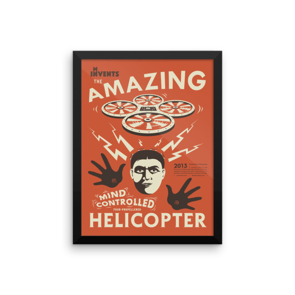 Mind-Controlled Helicopter Poster Framed