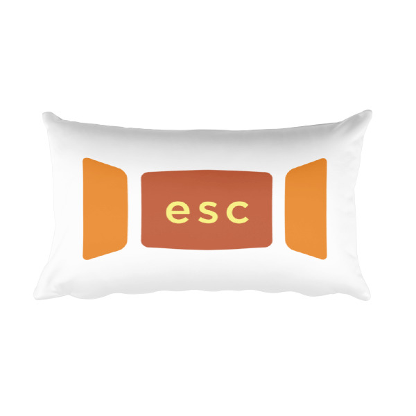 Escape Key Window Pillow