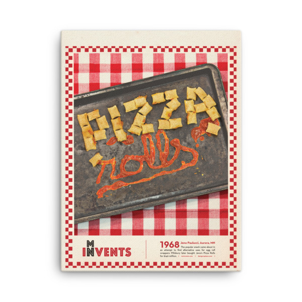 Pizza Rolls Poster Canvas
