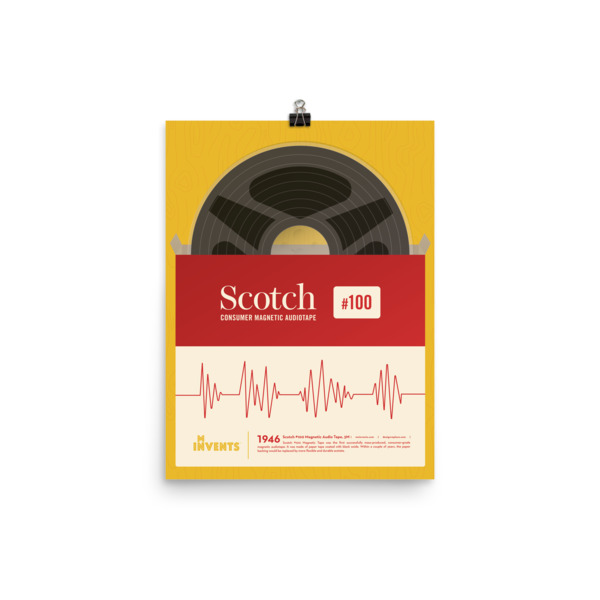 Scotch Consumer Magnetic Audiotape Poster