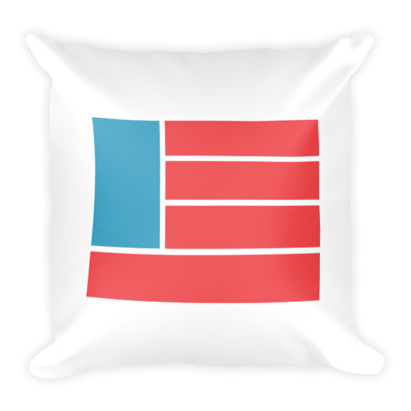 Freedom Fun Flag Square Pillow