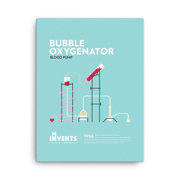 Bubble Oxygenator Poster Canvas
