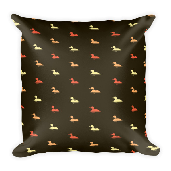Nokomis Loon Pattern 2 Square Pillows