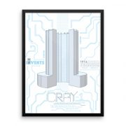 Cray Supercomputer Poster Framed