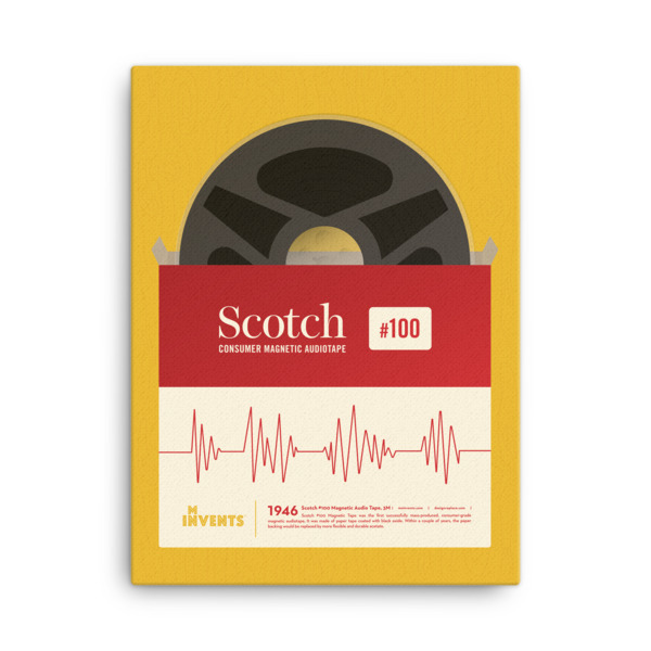 Scotch Consumer Magnetic Audiotape Poster Canvas