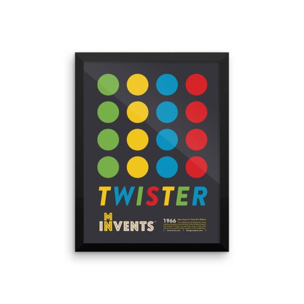 Twister Poster Framed