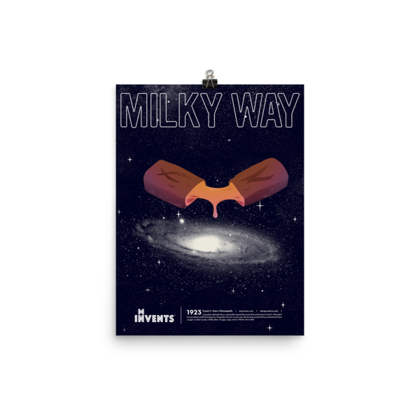Milky Way Bar Poster