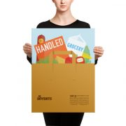Handled Grocery Bag Poster Canvas