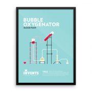 Bubble Oxygenator Poster Framed