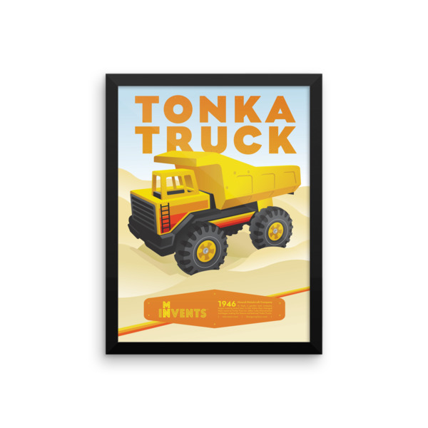 Tonka Truck Poster Framed