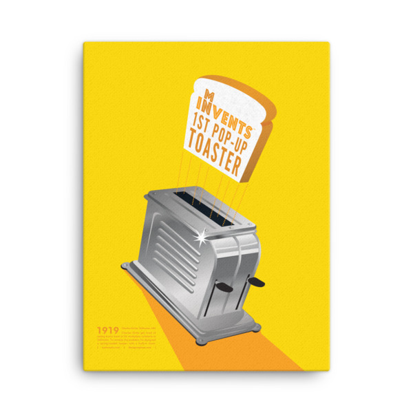 Pop-Up Toaster Poster Canvas