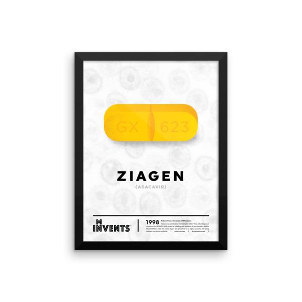 Ziagen Poster Framed