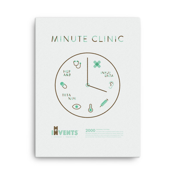 Minute Clinic Poster Canvas