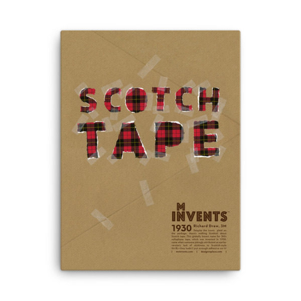 Scotch Tape Poster Canvas