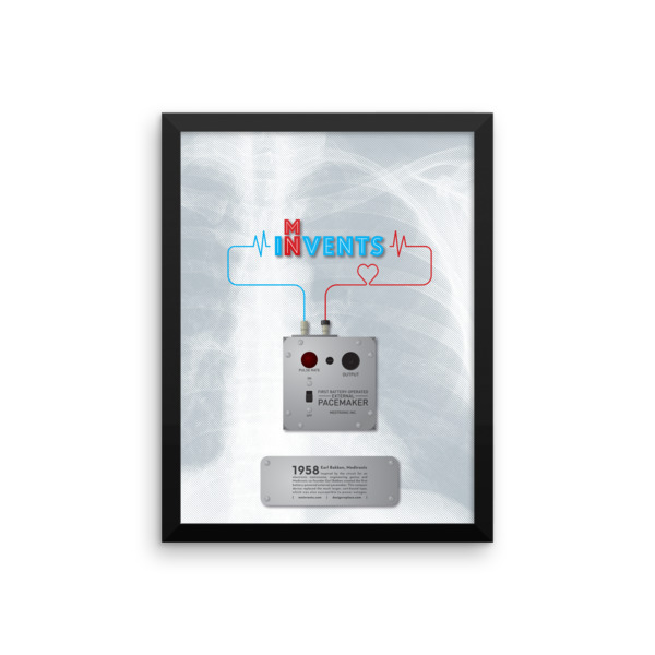 Battery-Operated External Pacemaker Poster Framed
