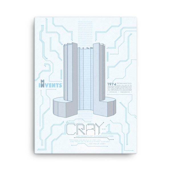 Cray Supercomputer Poster Canvas