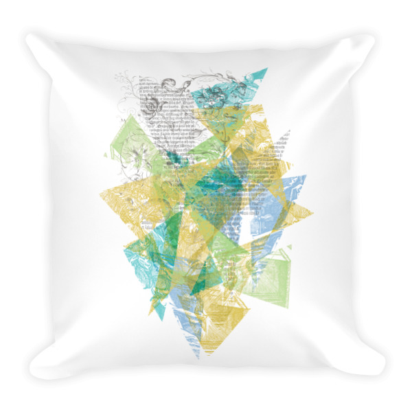 Literary Fragments Pillow