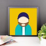 Anonymous Beard Poster Framed