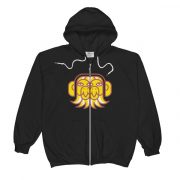 Avid Birds Zip-Up Hoodie with Wordmark