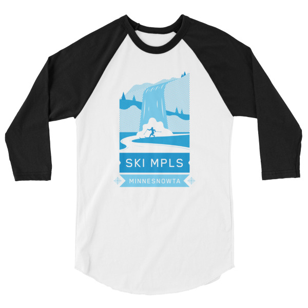 SKI MINNEAPOLIS 3/4 sleeve raglan shirt