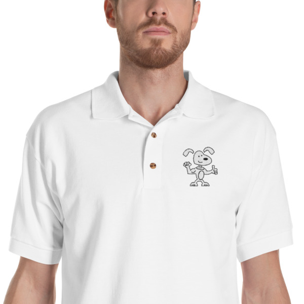 Doggone Strong Embroidered Polo Shirt