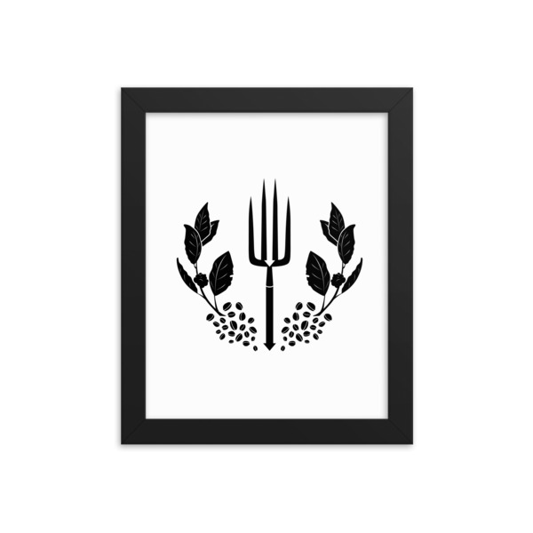 Stand With Small Farmers Framed poster